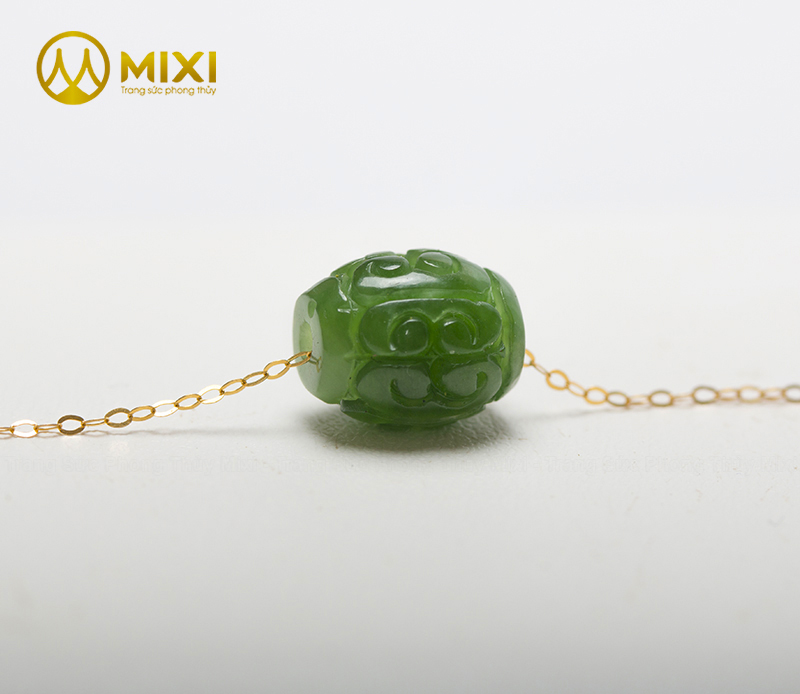 Dây Chuyền Vàng 18K Lu Thống Ngọc Nephrite