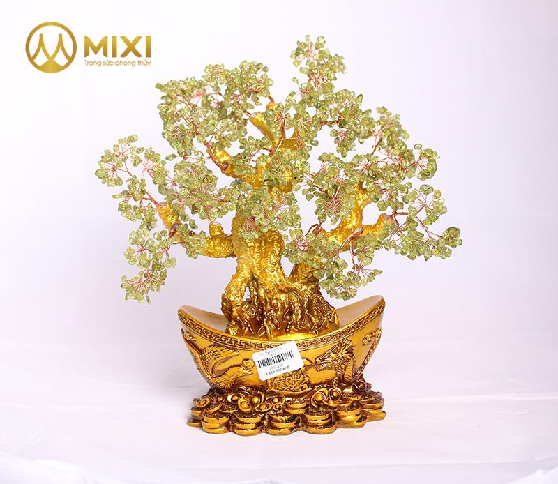 Cây Tài Lộc Peridot Thỏi Vàng