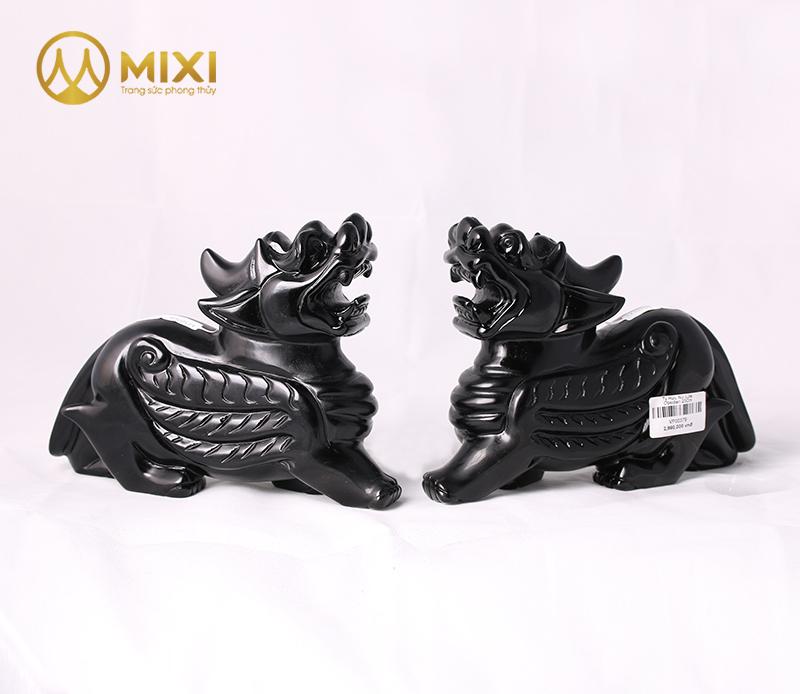 Tỳ Hưu Núi Lửa Obsidian_10 cm
