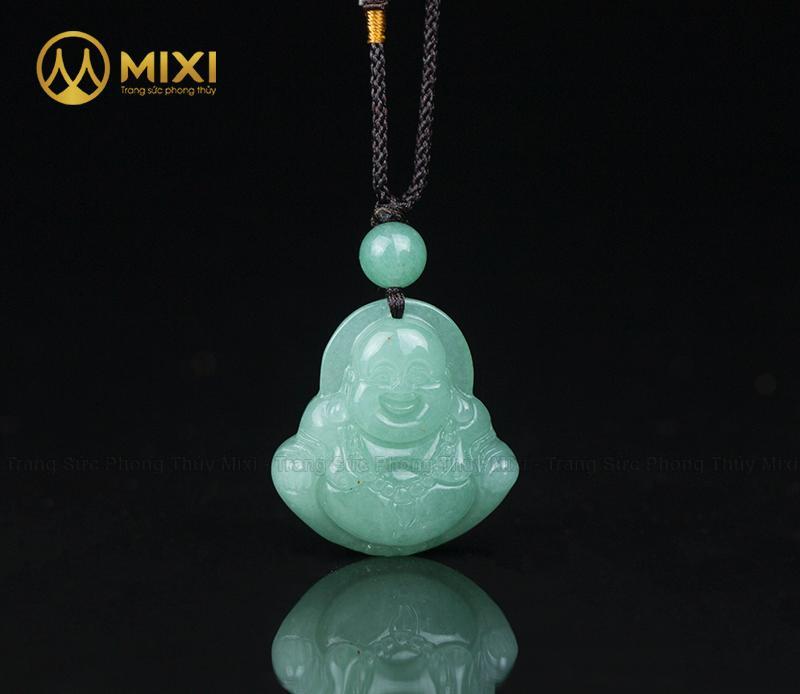 Mặt Dây Phật Di Lặc Thạch Anh Xanh