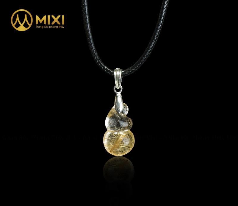Mặt Dây Hồ LôThạch AnhTóc Vàng