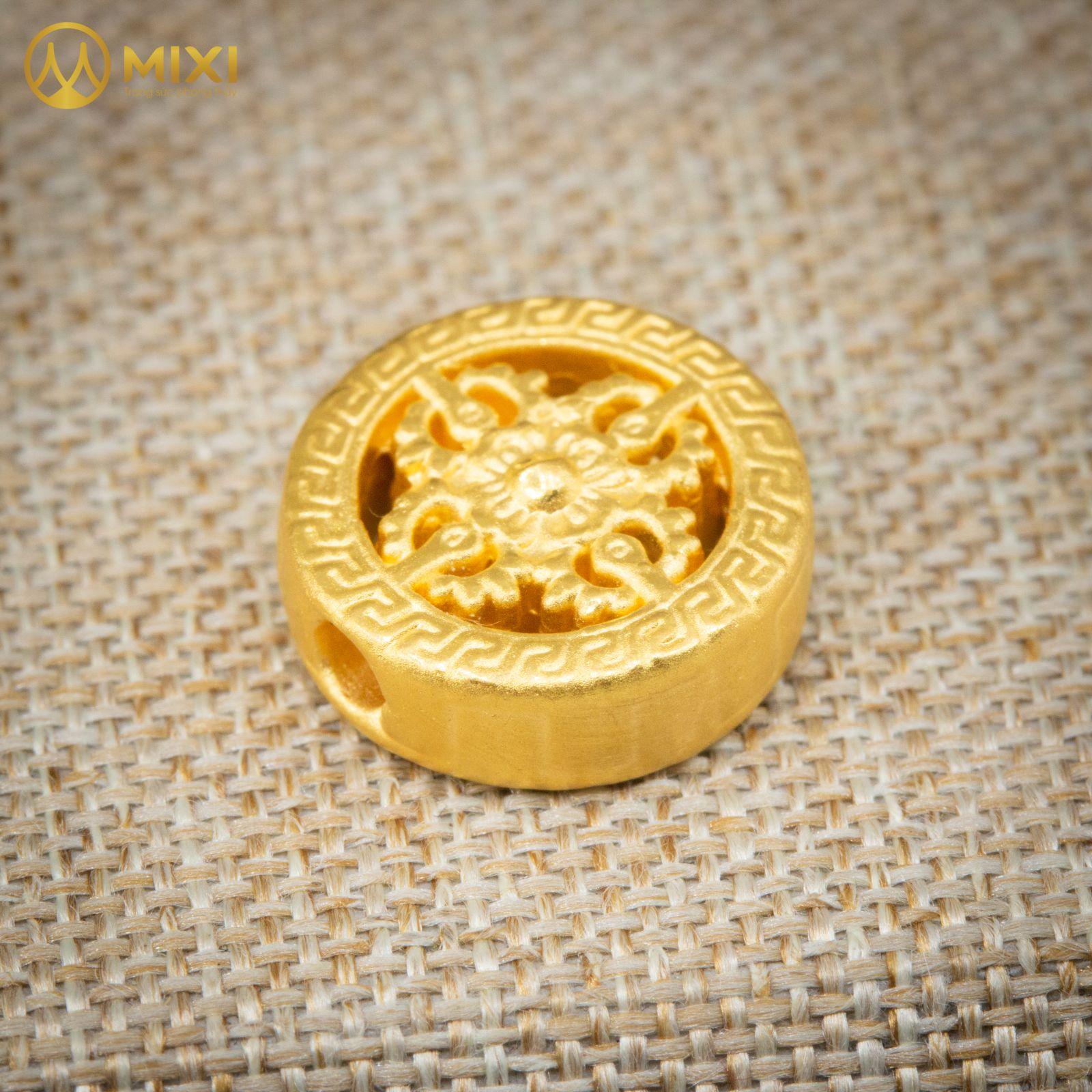 Charm Bánh Xe Pháp Luân Vàng 24k