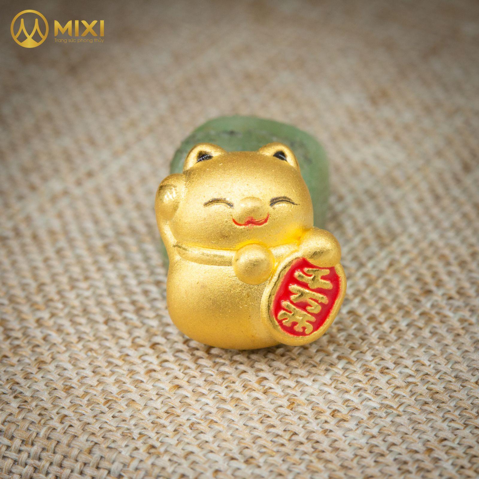 Charm Mèo Thần Tài Vàng 24K