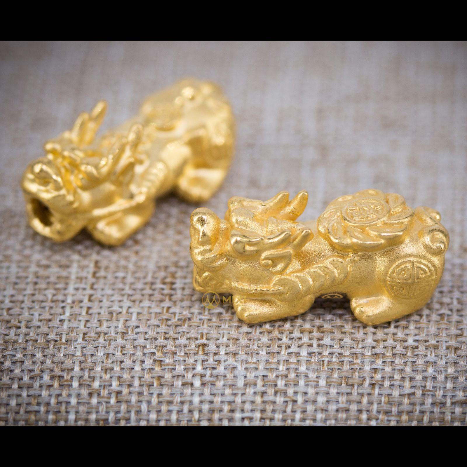 Charm Tỳ Hưu Tài Lộc Vàng 24k_24