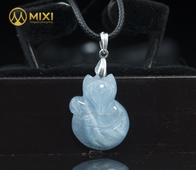 Mặt Dây Hồ Ly Aquamarine_To