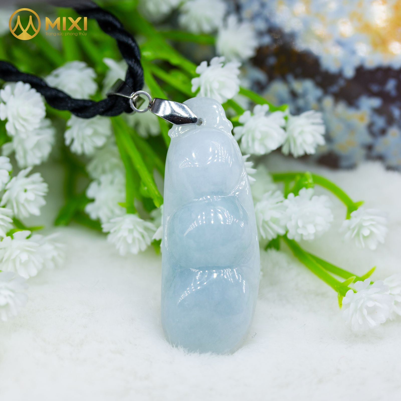 Mặt Dây Hạt Đậu Ngọc Jade