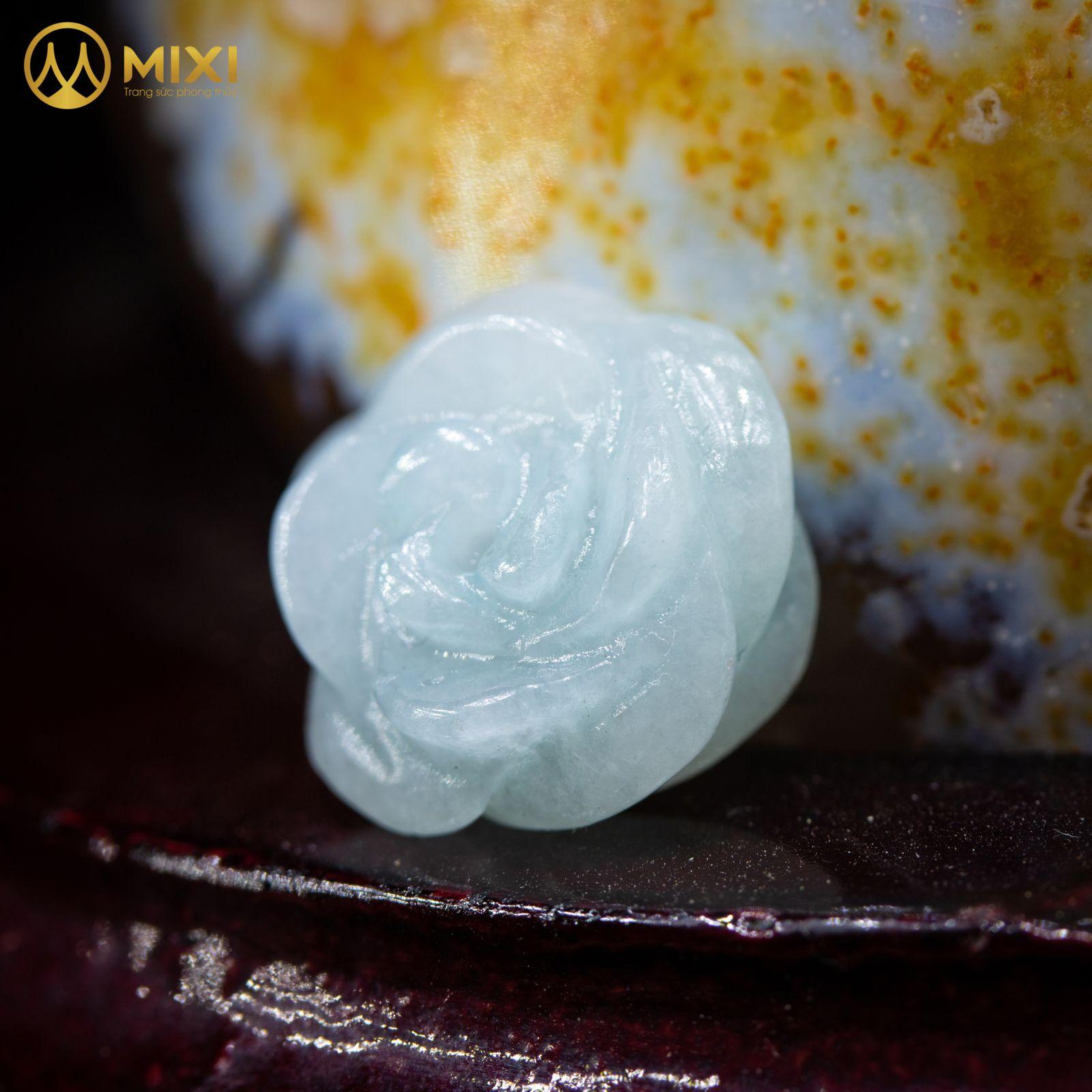 Mặt Dây Hoa Mẫu Đơn Ngọc Jade