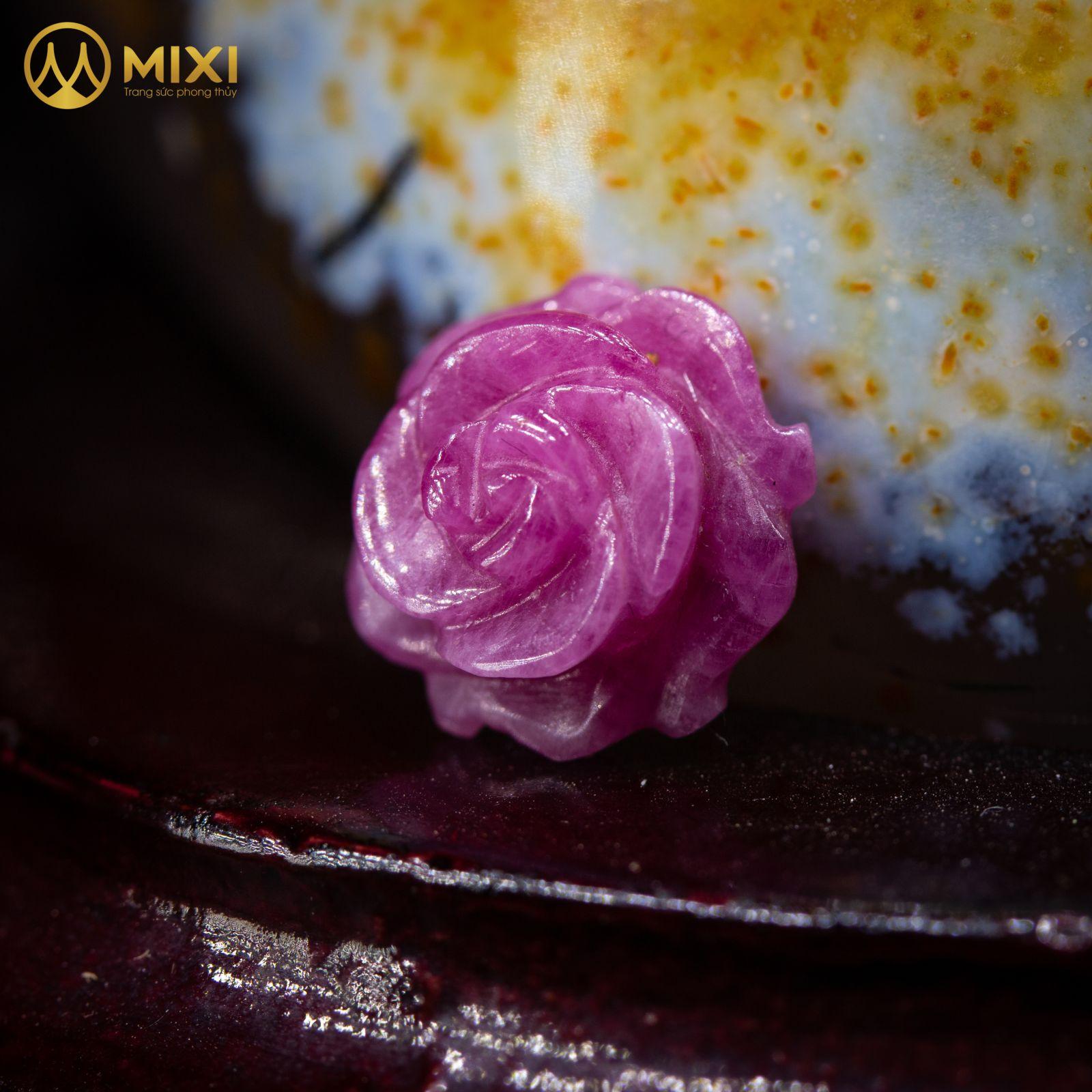 Mặt Dây Hoa Mẫu Đơn Ruby