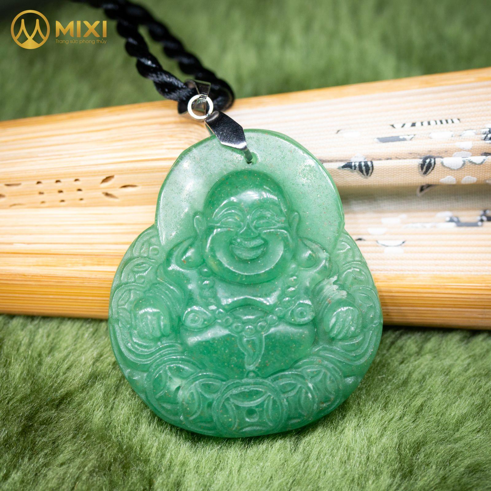 Mặt Dây Phật Di Lặc Thạch Anh Xanh_ToMặt Dây Phật Di Lặc Thạch Anh Xanh_To