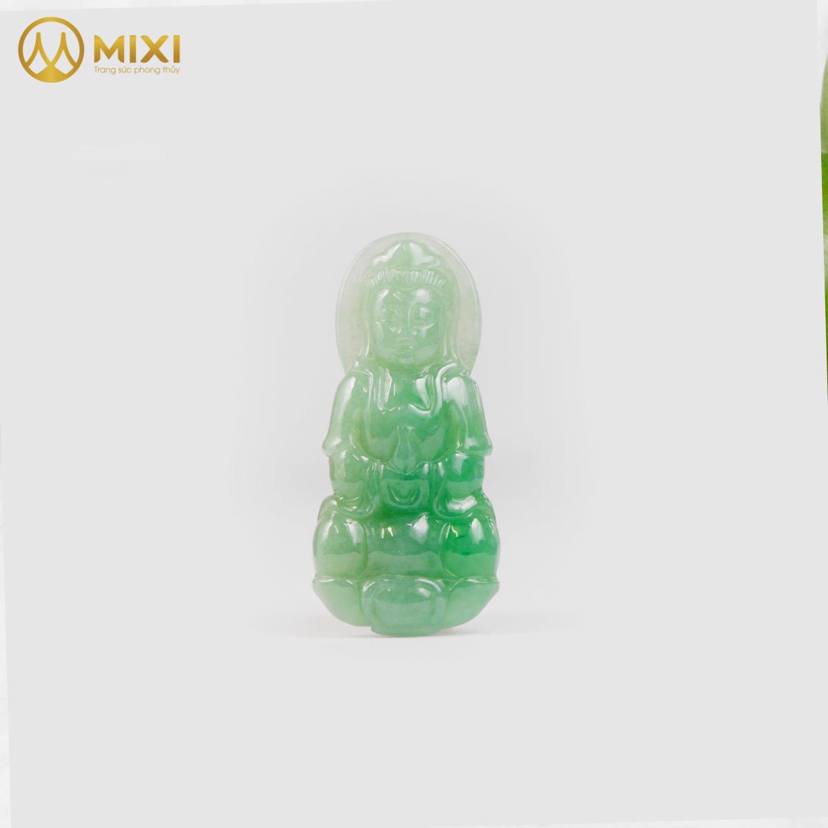 Mặt Dây Phật Quan Âm Ngọc Cẩm Thạch 2A