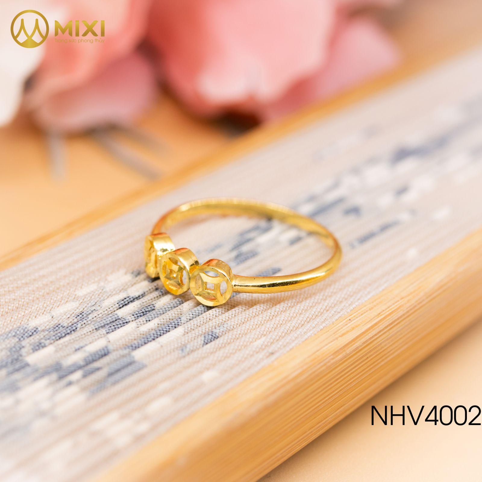 Nhẫn Nữ Mặt Kim Tiền Vàng 10K_9