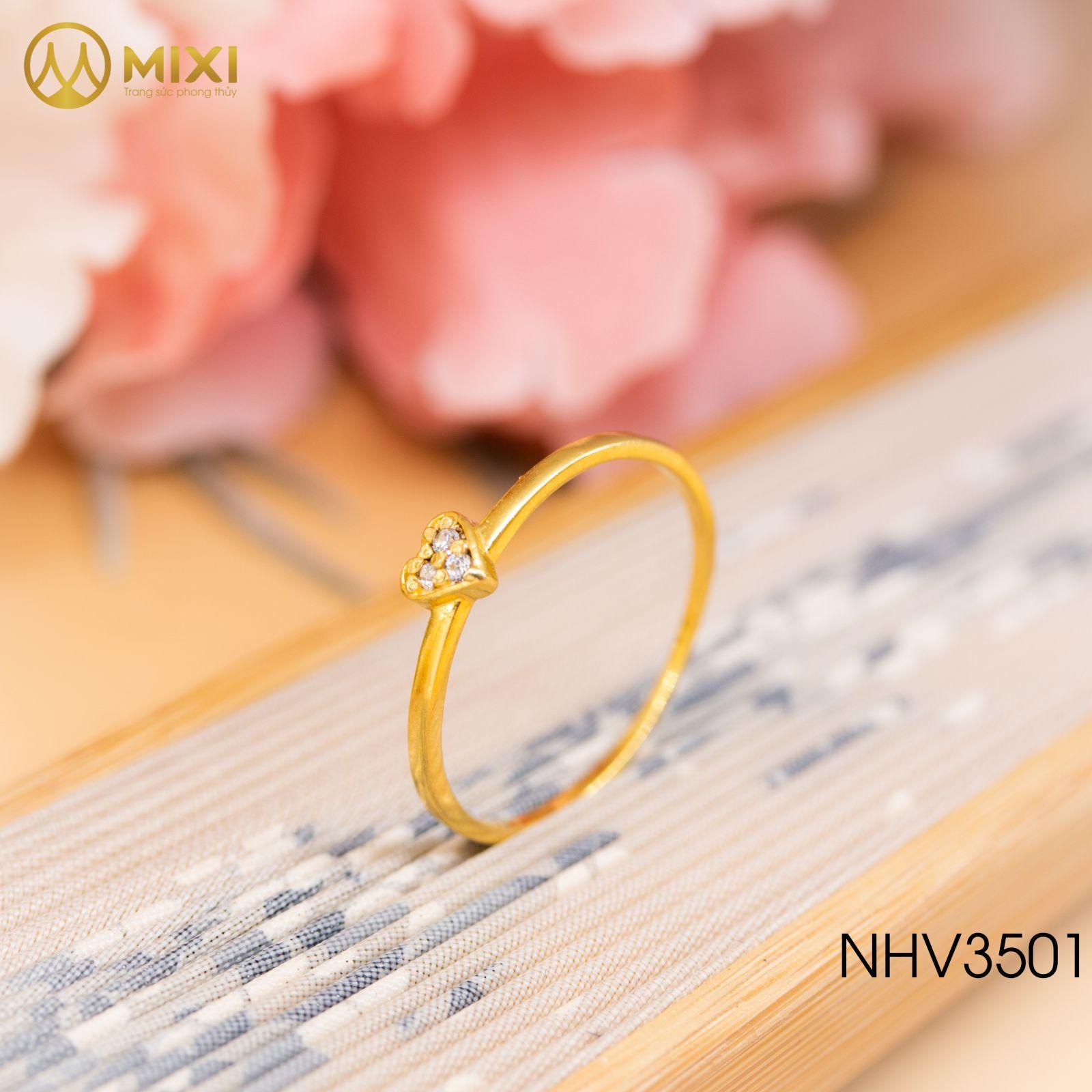 Nhẫn Nữ Mặt Trái Tim Vàng 10K_11