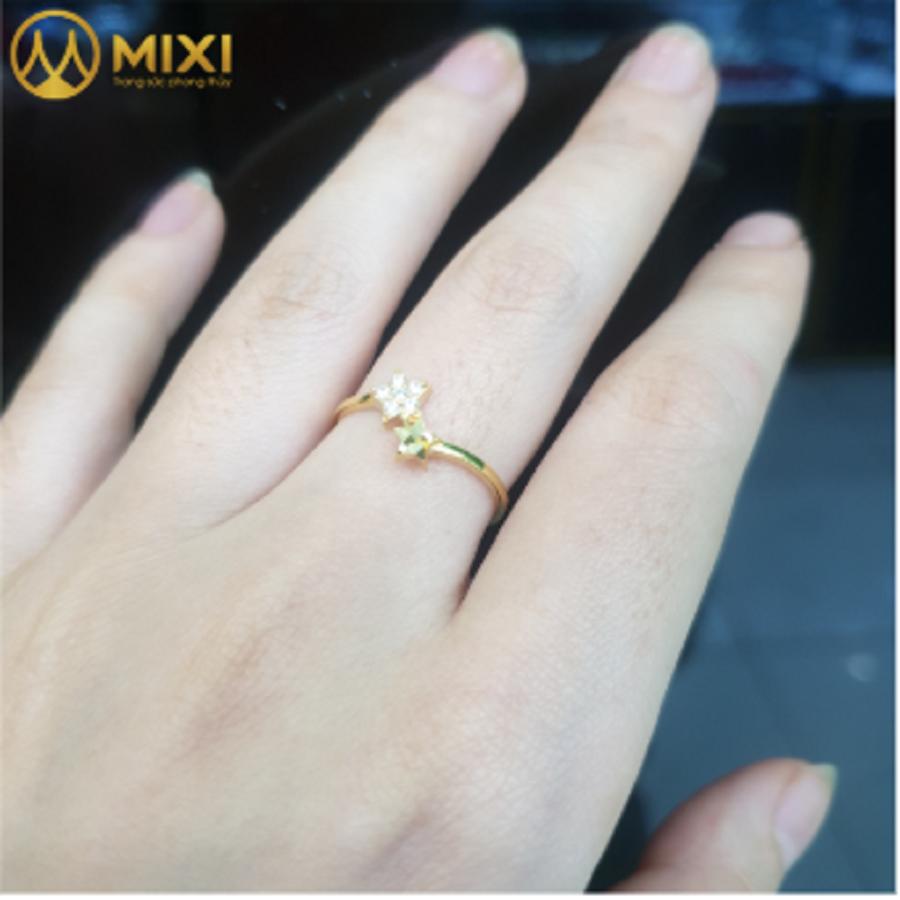 Nhẫn Nữ Mặt Sao Đôi To Vàng 10K_11