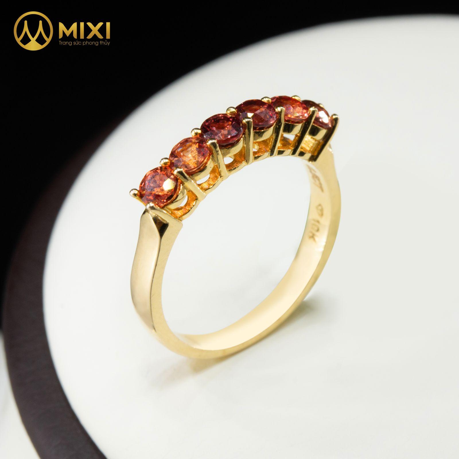 Nhẫn Nữ Saphia Hồng Kết 6 Vàng 10K