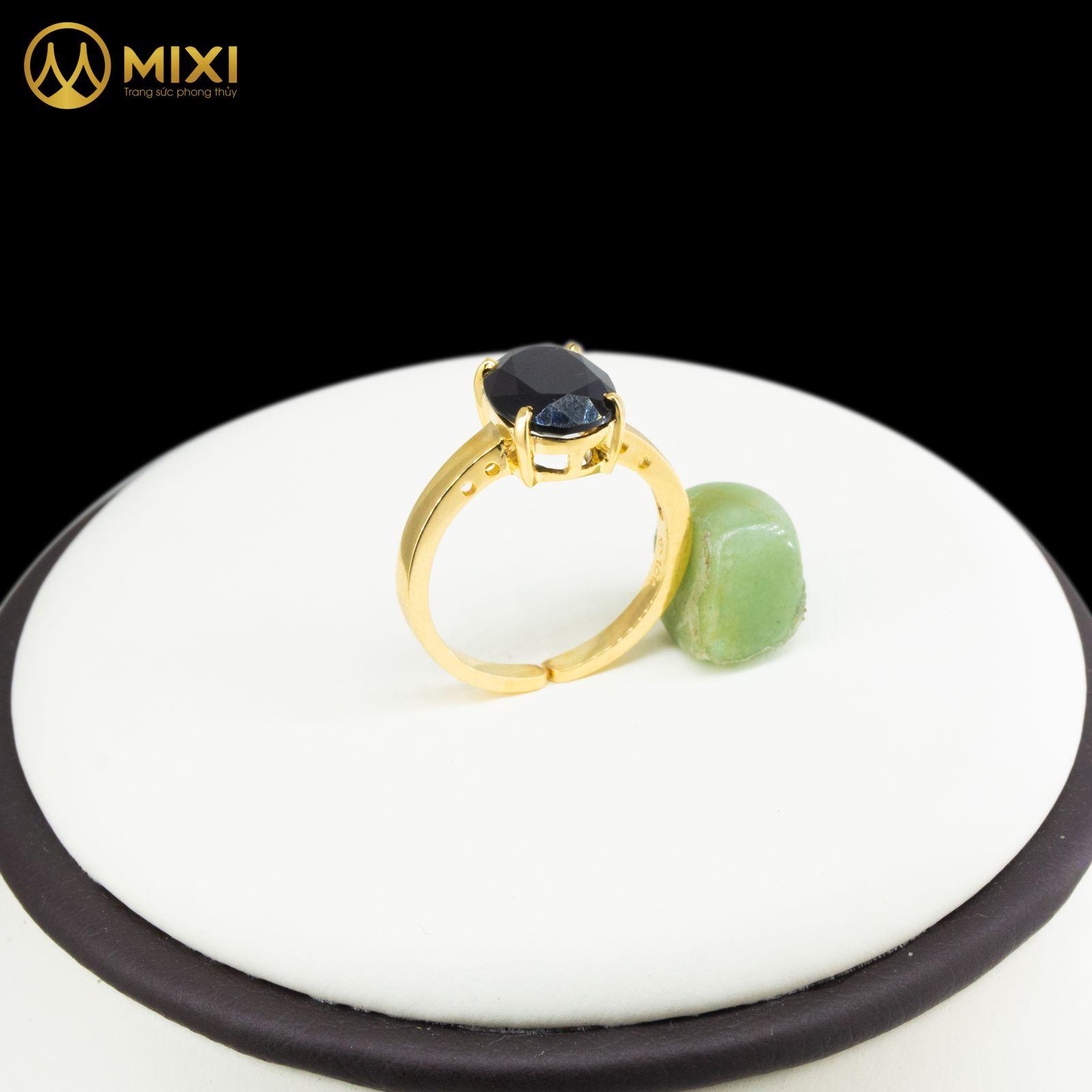 Nhẫn Nữ Mặt Đá Núi Lửa Giác Oval Vàng 10K