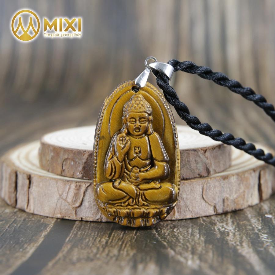 Phật Bản Mệnh A Di Đà Mắt Hổ Nâu