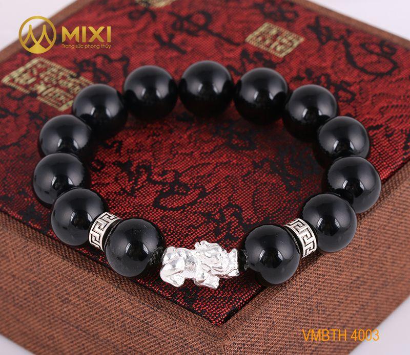 VT Đá Núi Lửa Obsidian_14 Mix Charm Tỳ Hưu Bạc 999_18_BTH02