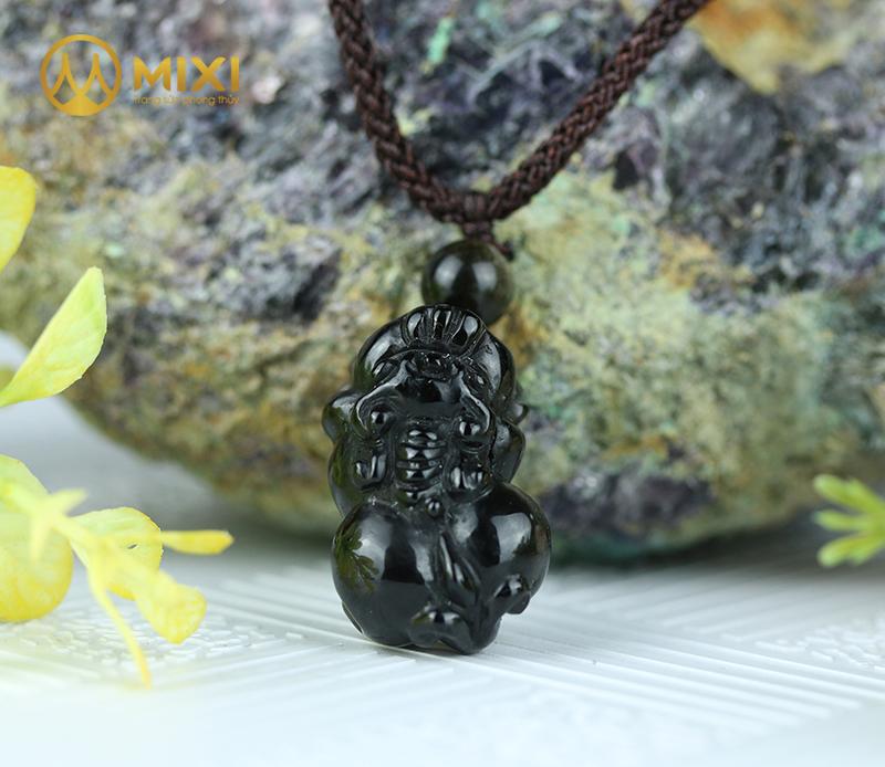Mặt Dây Tỳ Hưu Núi Lửa Obsidian 2A