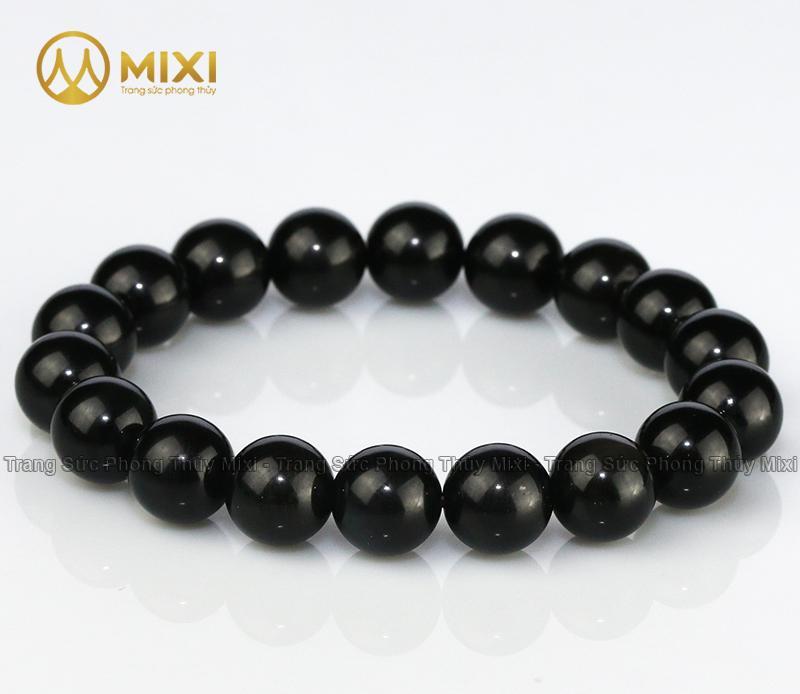 Vòng Tay Núi Lửa Obsidian 10 Ly 19 hạt