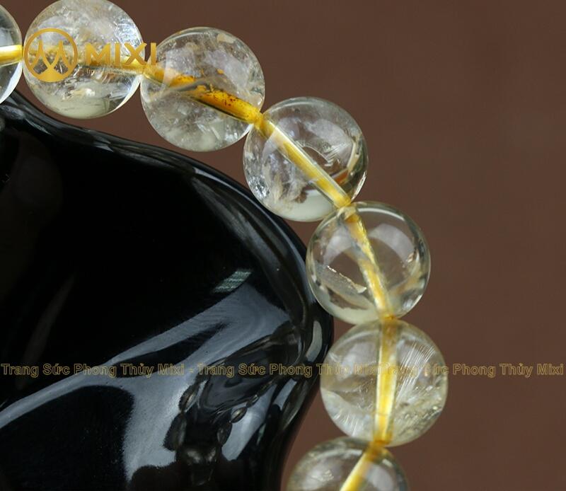 Vòng Tay Thạch Anh Vàng 1A_12_17 hạt