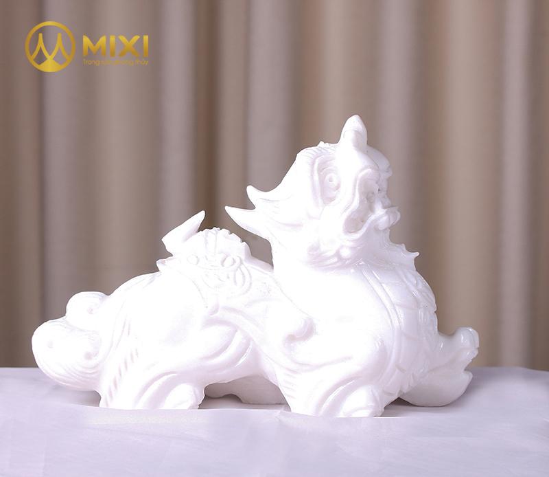 Tỳ Hưu Đá Thanh Hóa Trắng_15 cm