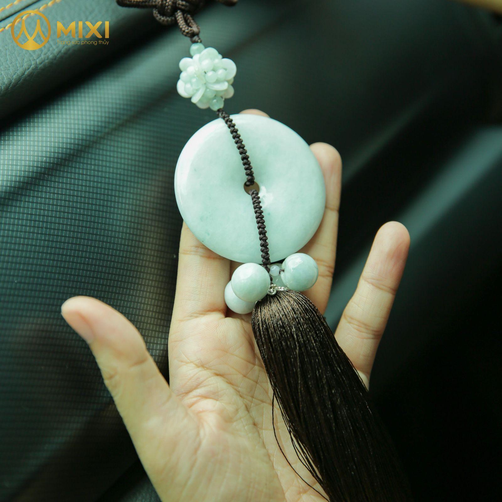 Dây Treo ô tô Ngọc Jade Đồng Tiền