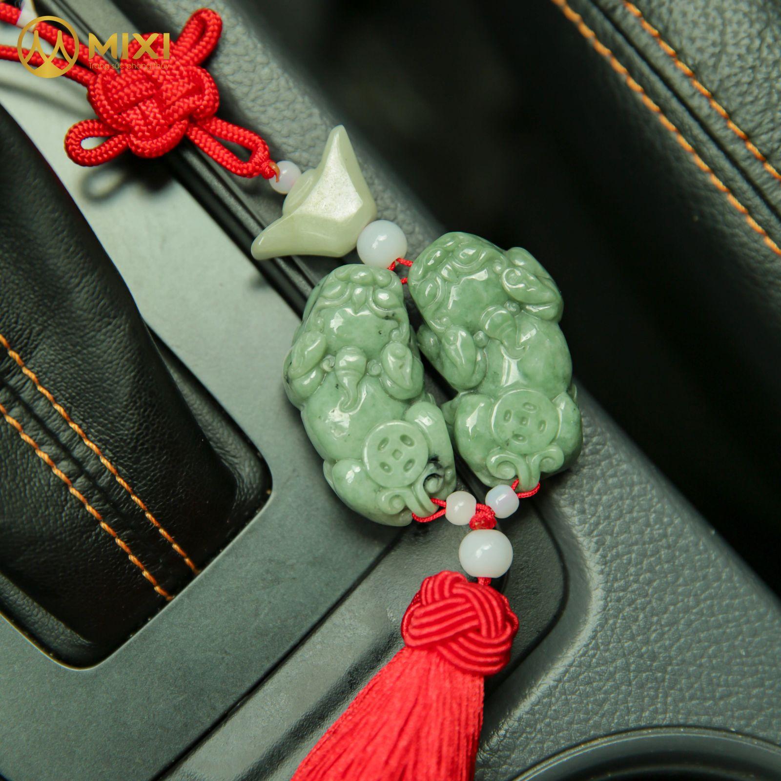 Dây Treo Ô Tô Cặp Tỳ Hưu Ngọc Jade
