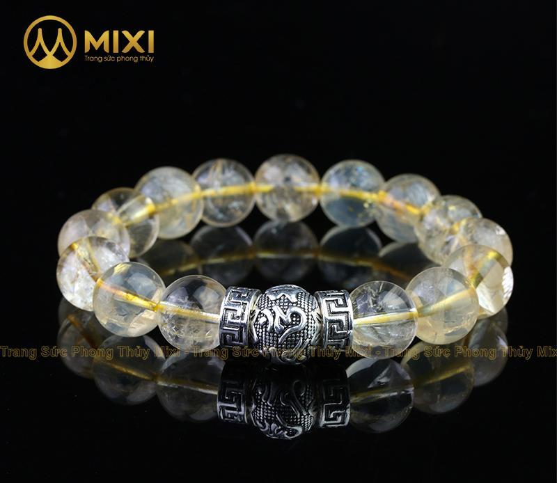 VT Đá Thạch Anh Vàng 2A_12 Mix Charm Omshanti Bạc 925_12_BOST01